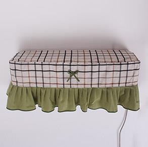 田园格子布空调罩