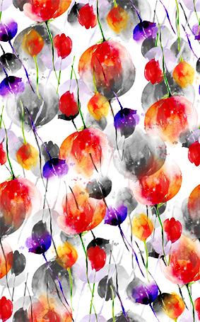 多彩束花韵染花坛