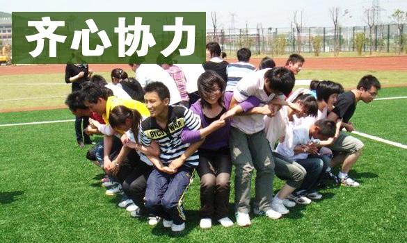 團隊合作拓展訓練項目:齊心協力