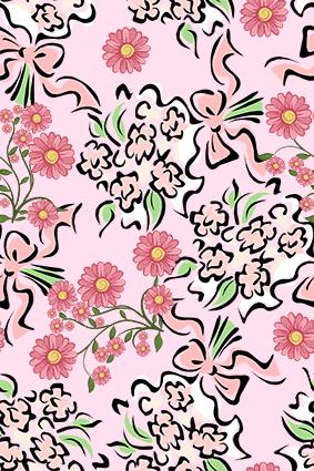 色块粉色流体花边