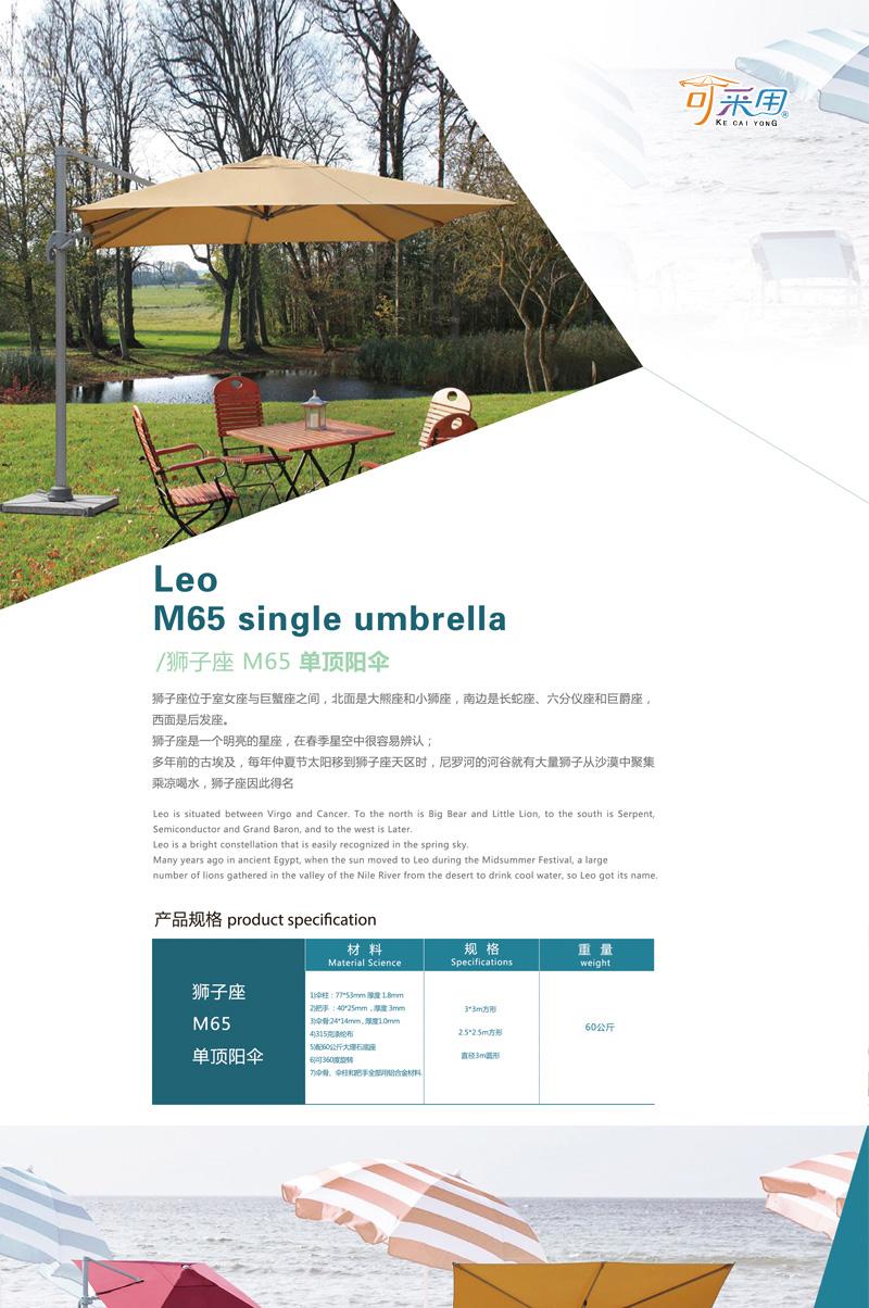 /狮子座 M65 单顶阳伞