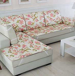 粉色大花沙发垫