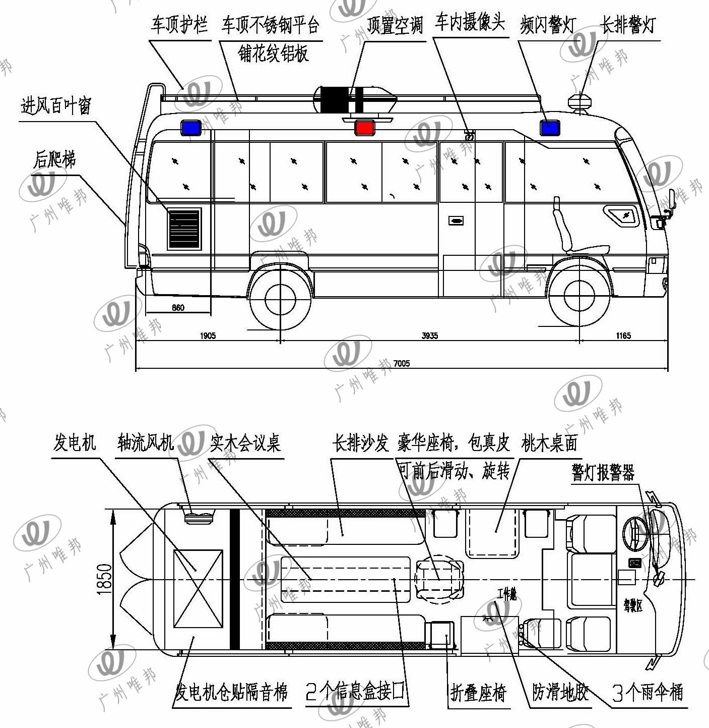 5061XZH型考斯特指挥车