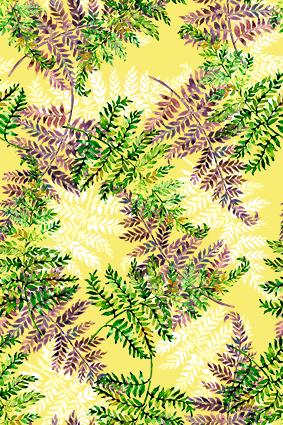 元素黄底树枝枯叶