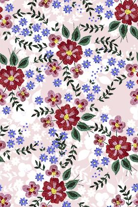 植物毛织简约花朵