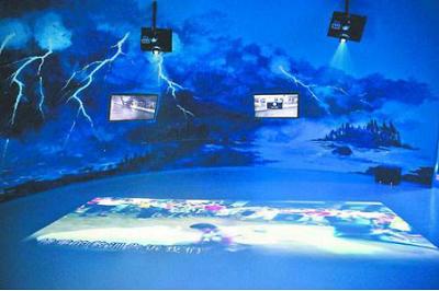 科普馆互动游戏结合,科普知识,展示自然界的力量