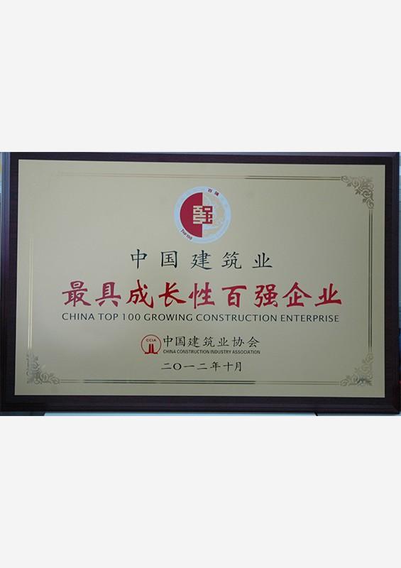 中国建筑业最具成长性百强企业