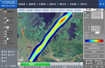 暴雨引发的河流淹没模型
