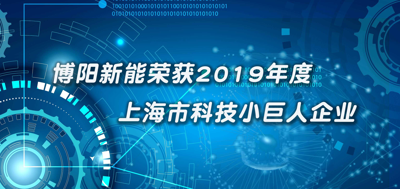 """博阳新能荣获""""科技小巨人企业""""荣誉称号"""