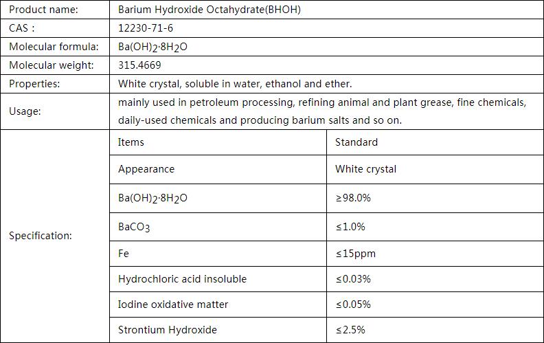 Barium Hydroxide Octahydrate(BHOH)