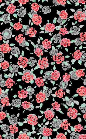 黑底清新小花卉