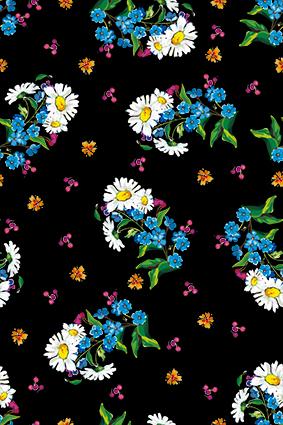 清晰盆菜小花朵