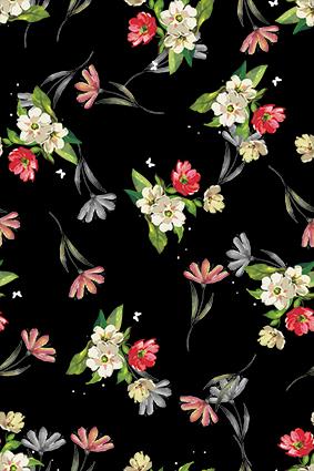 黑底飘零植物小花卉