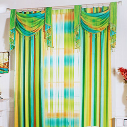 暖色渐变卧室窗帘