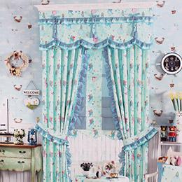 魔法公主卡通儿童房窗帘