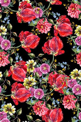 枯枝美艳红色大花卉