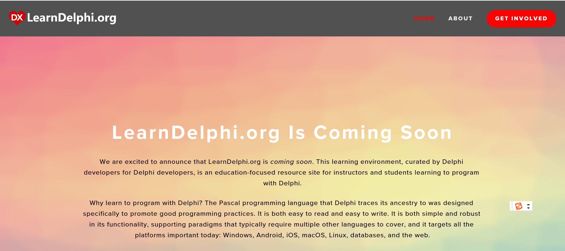 LearnDelphi.Org 已正式上线