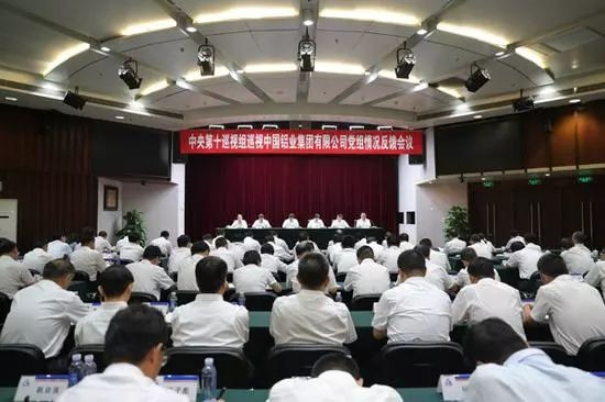 中央第十巡视组向中国铝业集团有限公司党组反馈巡视情况