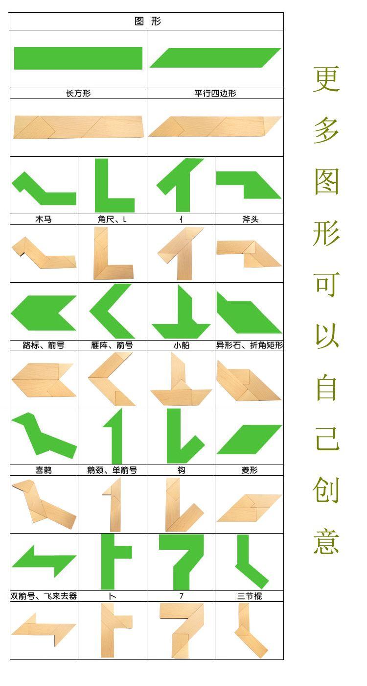 """四巧板""""T字之谜""""智力拼图游戏"""