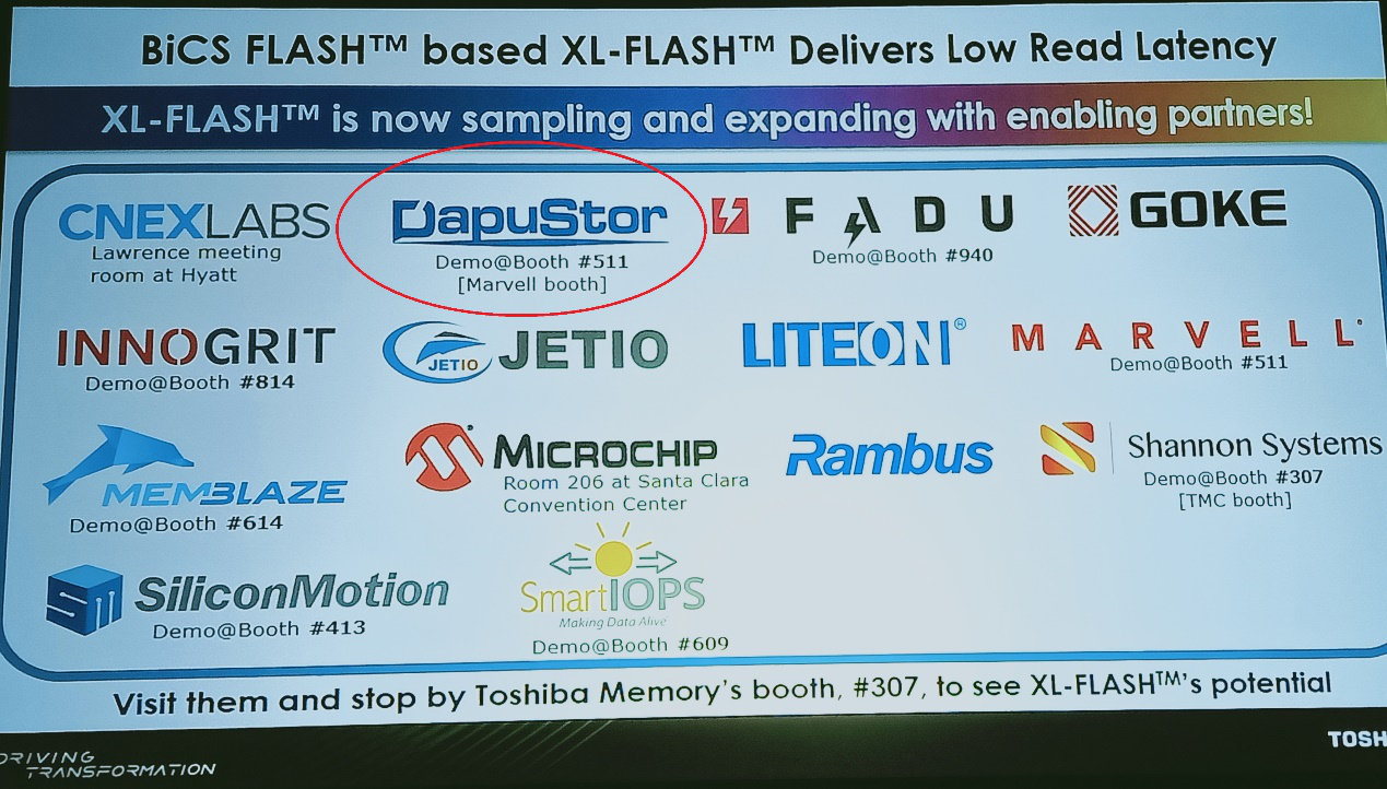 好合作带来好产品 -DapuStor亮相2019 Flash Memory Summit