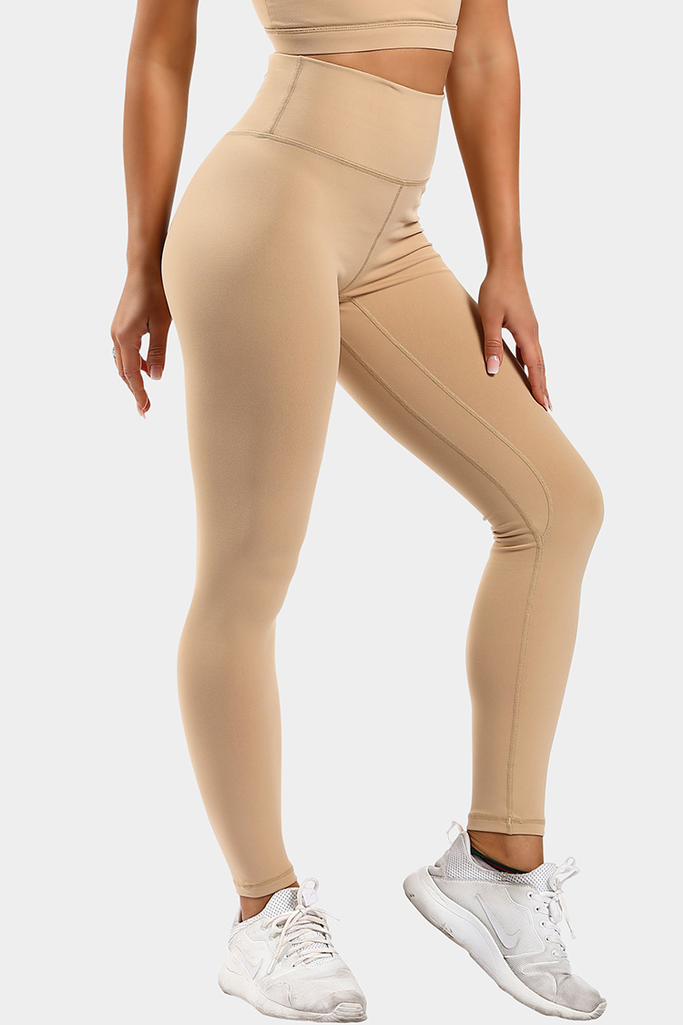 High-elastic gym capris basic high waisted woman leggings for sports