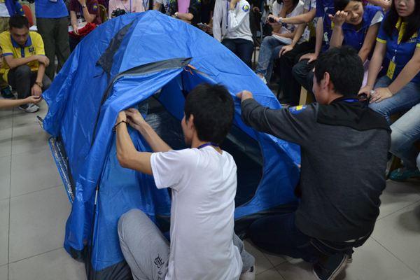 户外拓展训练项目:搭帐篷
