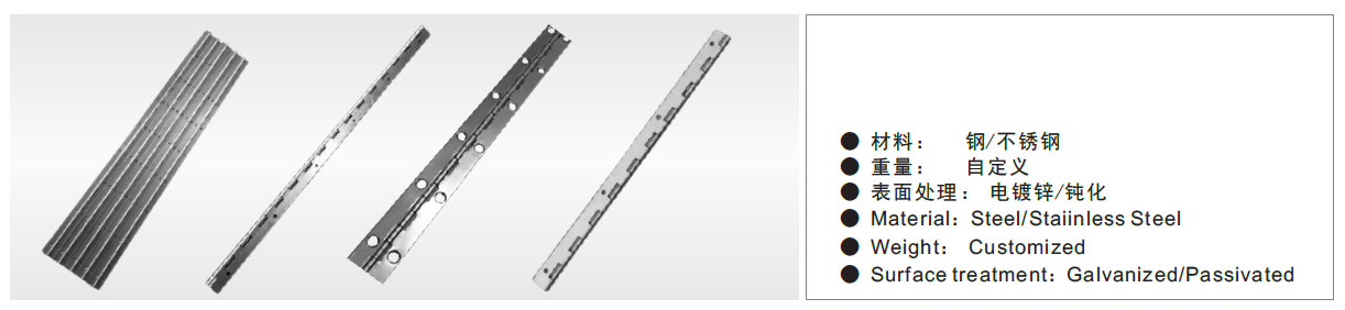 Continuous Hinge With Holes