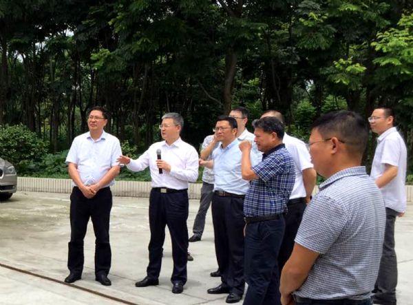 自贡市考察团考察巨星种猪场、寄养场——董事长唐光跃总裁段利锋接待陪同