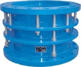 新疆污水处理厂使用裕隆牌法兰式限位伸缩器