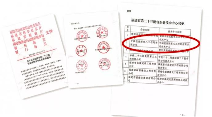 喜报!建云科技助中国城投八局企业技术中心通过省级认定