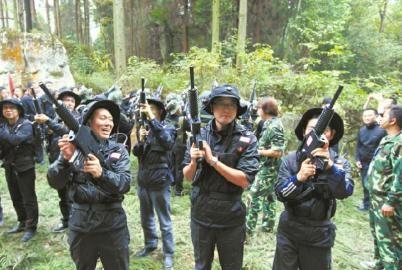 户外真人CS射击类拓展训练项目:丛林游击队