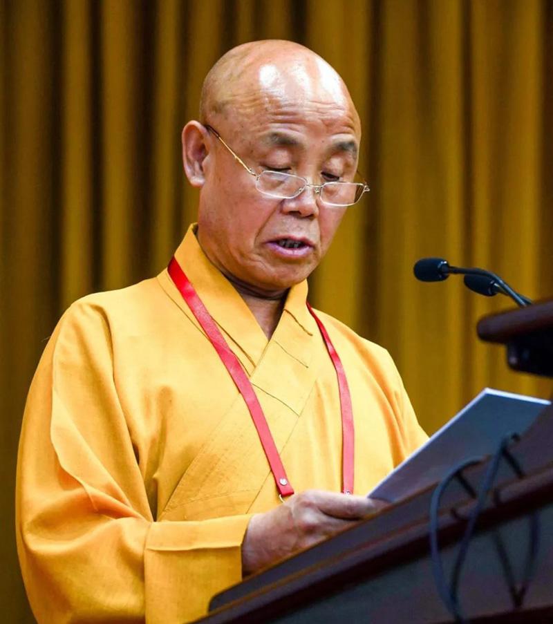 纯文大和尚赴京参加中国佛教协会九届三次常务理事会