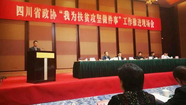 集团董事长唐光跃在省扶贫攻坚推进会上作大会发言