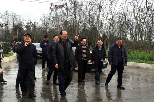 农业部兽医局副局长王祺宝视察巨星天府猪场