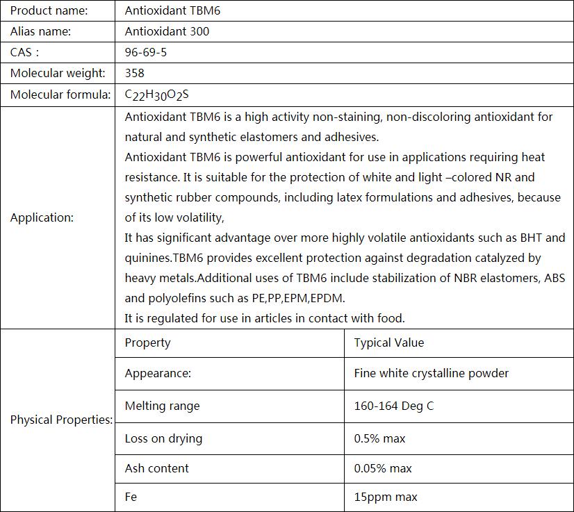 Antioxidant TBM6