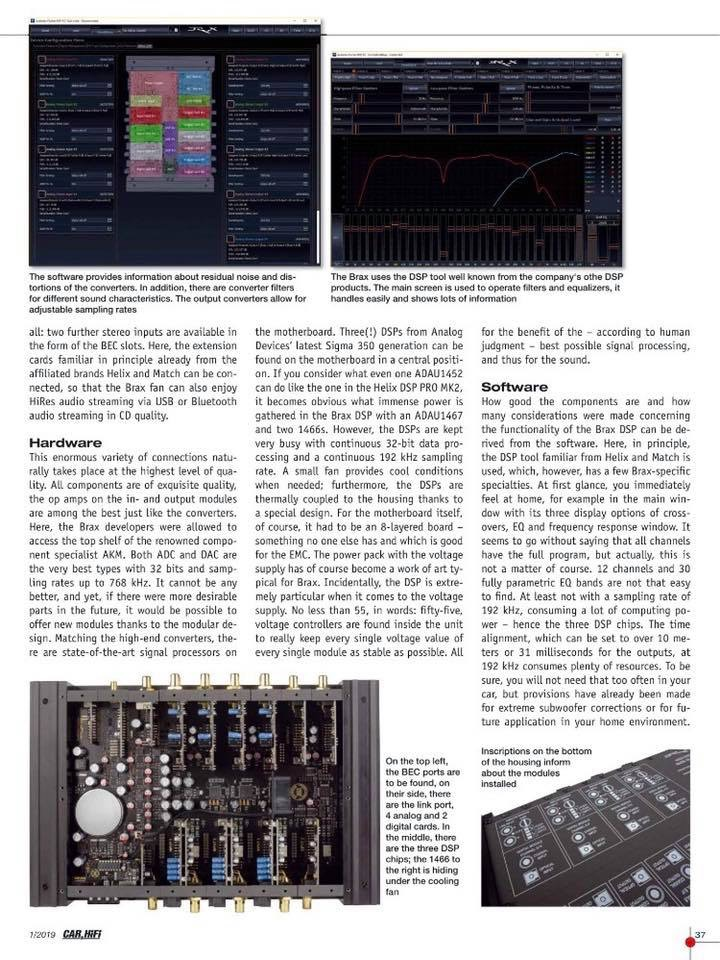 顶尖产品打造Hi-End音质!细说德国BRAX DSP处理器