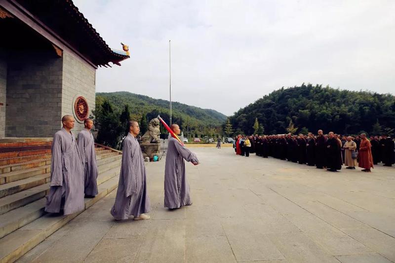 爱国爱教,利乐有情 | 云居山真如禅寺举行升旗仪式