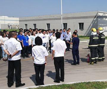 包头分中心携手高新区消防大队、顶津食品开展大型消防培训及演练活动