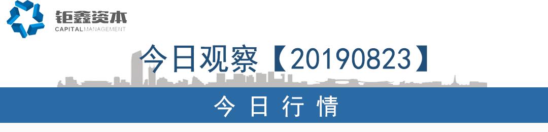 【钜鑫资本】20190823今日观察