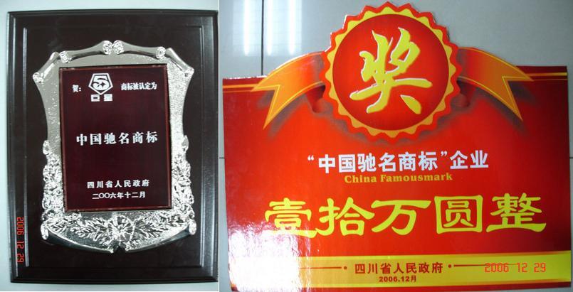 四川省政府召开大会表彰巨星集团等荣获中国驰名商标的企业