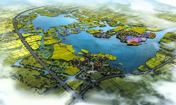 东鉴湖水乡风貌示范区亿博团队全天实时计划总体规划