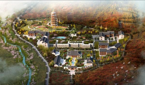南京市栖霞山圆通禅院城市设计方案