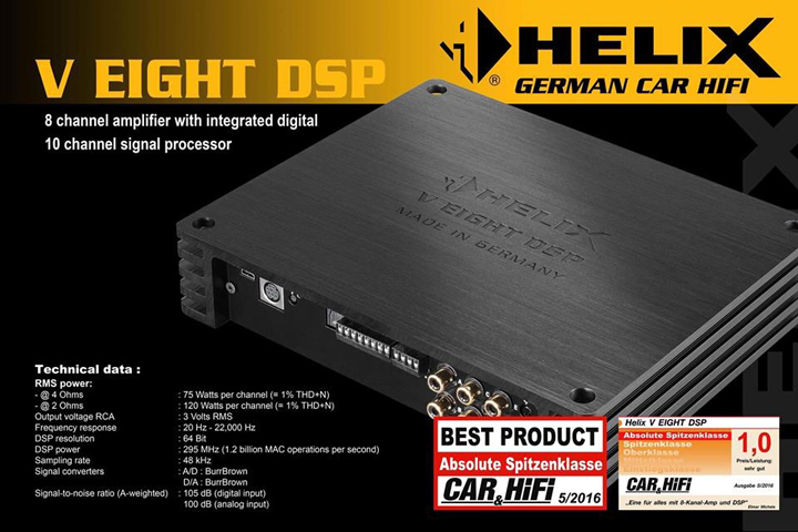 撩拨你的心弦!宝马520D音响升级德国HELIX V EIGHT DSP功放