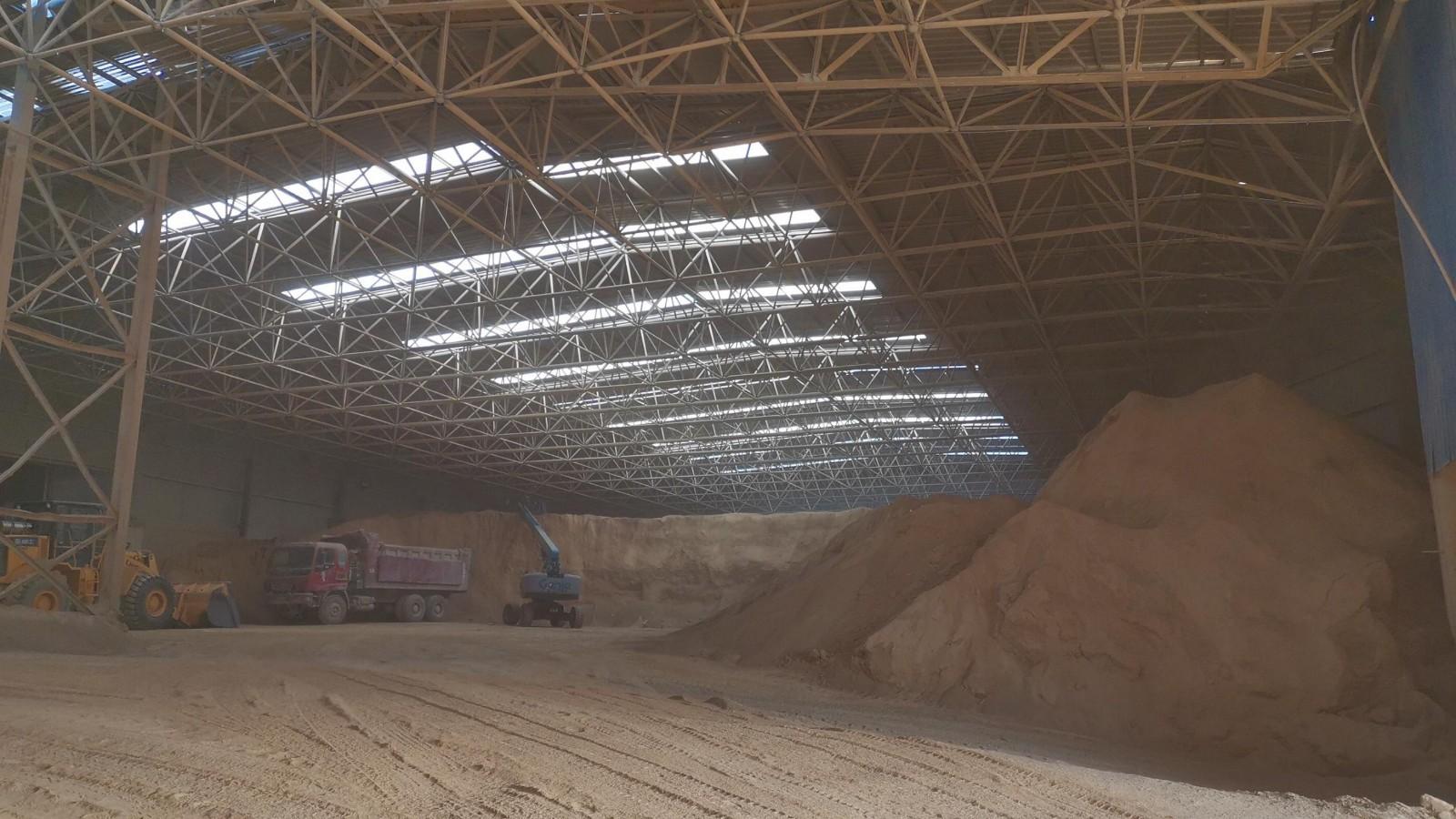 山西双良鼎新水泥有限公司堆棚喷雾项目开工