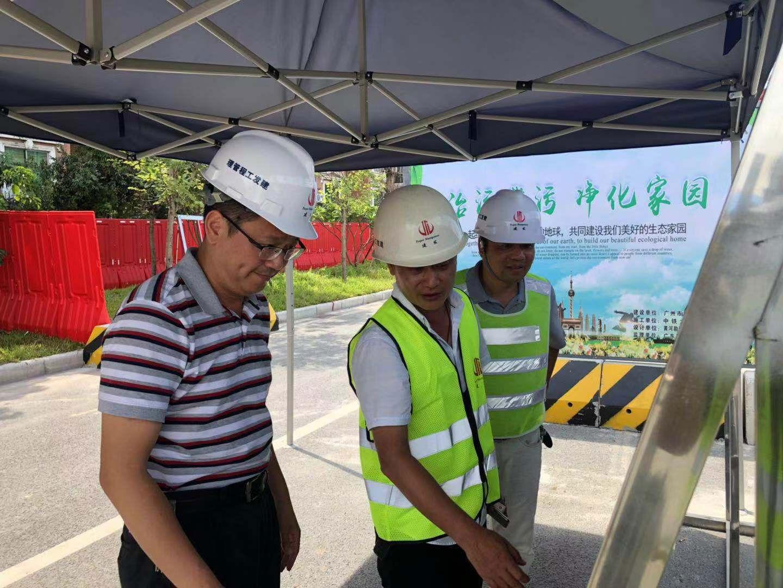 番禺区何汝诚书记 到南浦岛污水管网工程调研工作