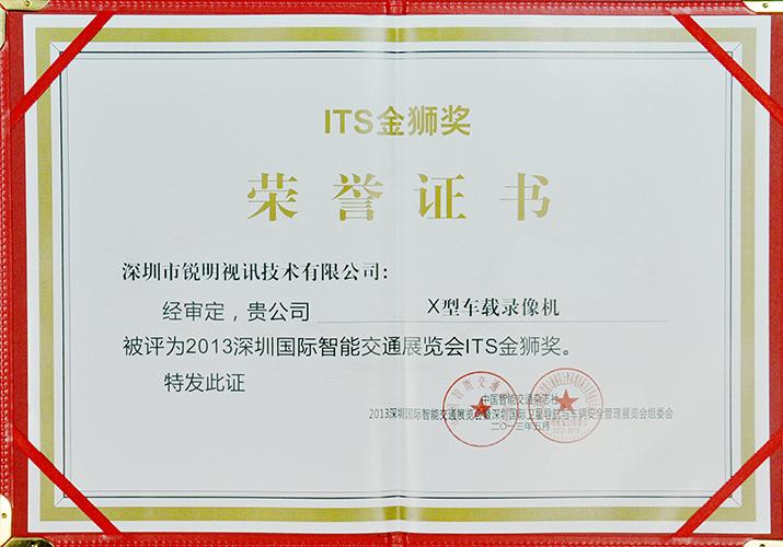 2013金狮奖证书