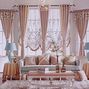 咖色条纹拼接儿童房窗帘