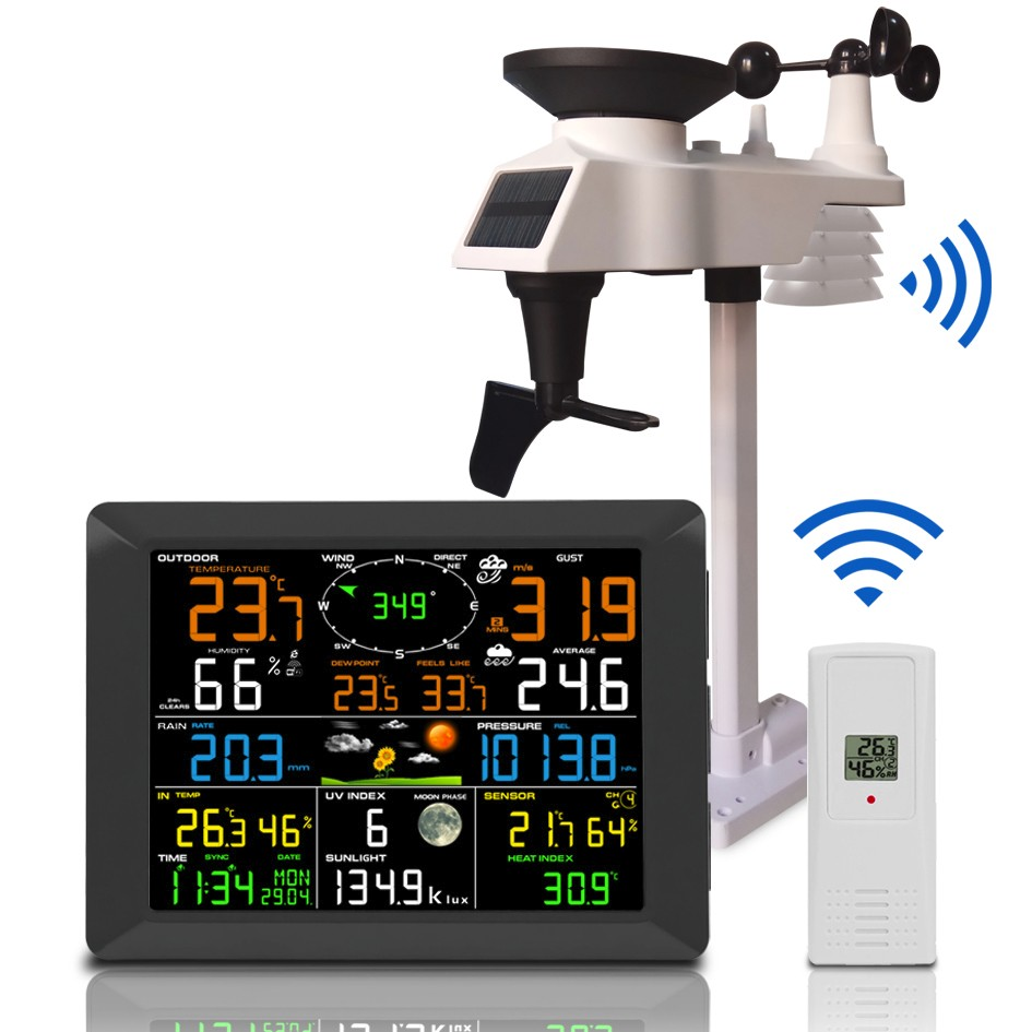 FT-0300 Jumbo Color Display professional Weather Station