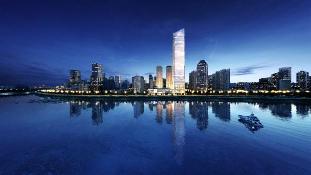贝博论坛物业携手长航实业共同描绘汉口滨江第一高楼——武汉长江航运中心未来蓝图