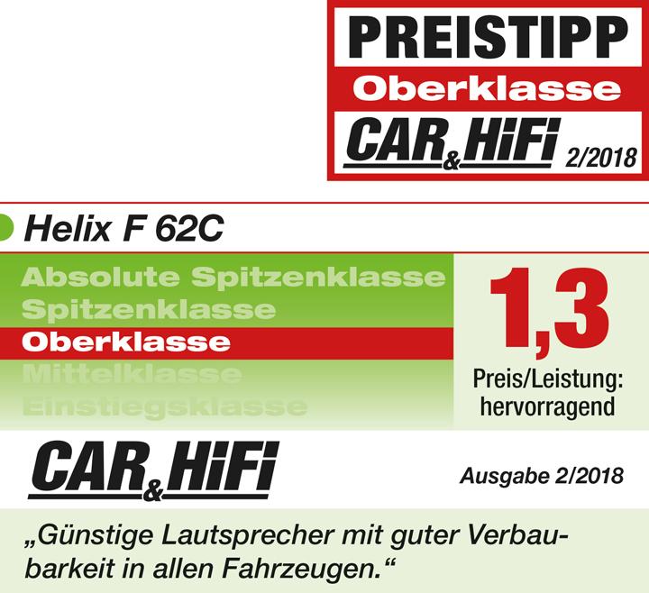 这套喇叭不一般:德国HELIX F 62C两分频套装喇叭